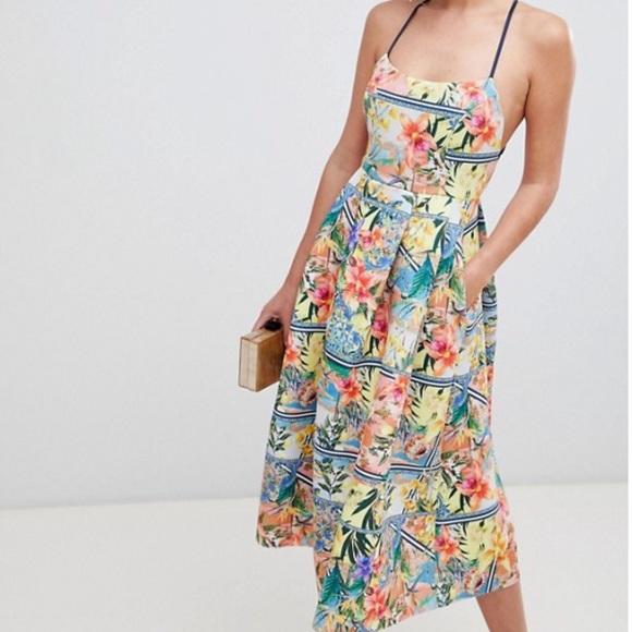 8f6ab8ee6d49 SALE Easter Dress! ASOS tropical stripe midi dress